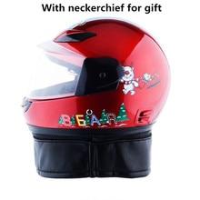 2018 kids Motorcycle with neckerchief Helmet Professional Racing Motocross Casque Moto Off-road Cartoon Children Women