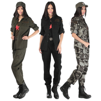 High quality field army fan cotton camouflage suit women's trousers jacket Two piece Interplant Military uniform Female