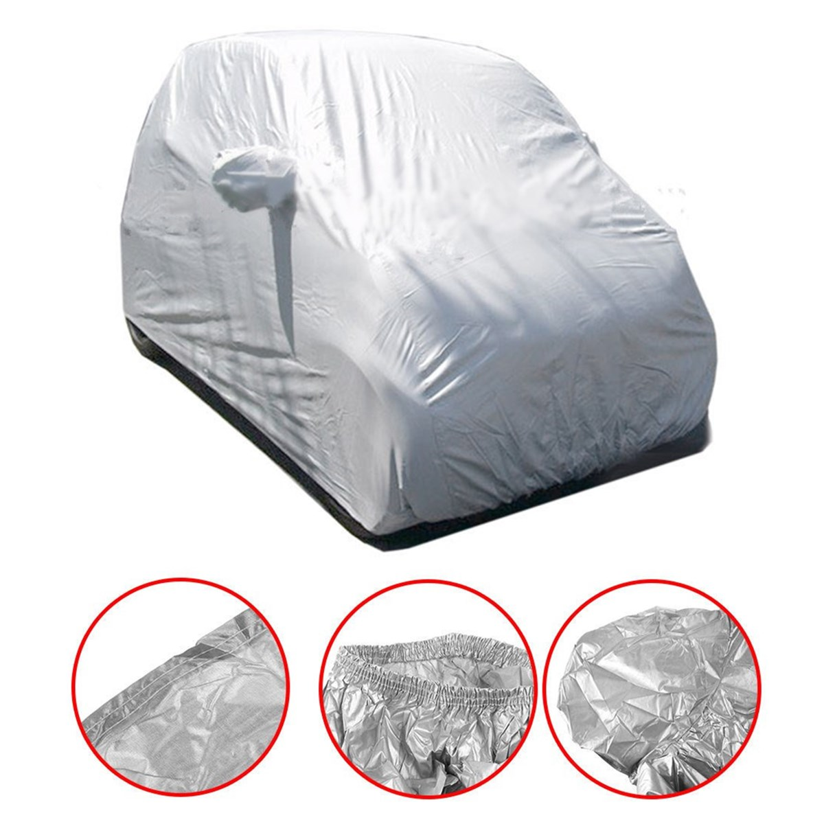 2.7X1.7X1.6m Car Cover Sun Rain Dust Proof Waterproof Shield For Benz Smart Fortwo Auto Car Outdoor Protector Cover