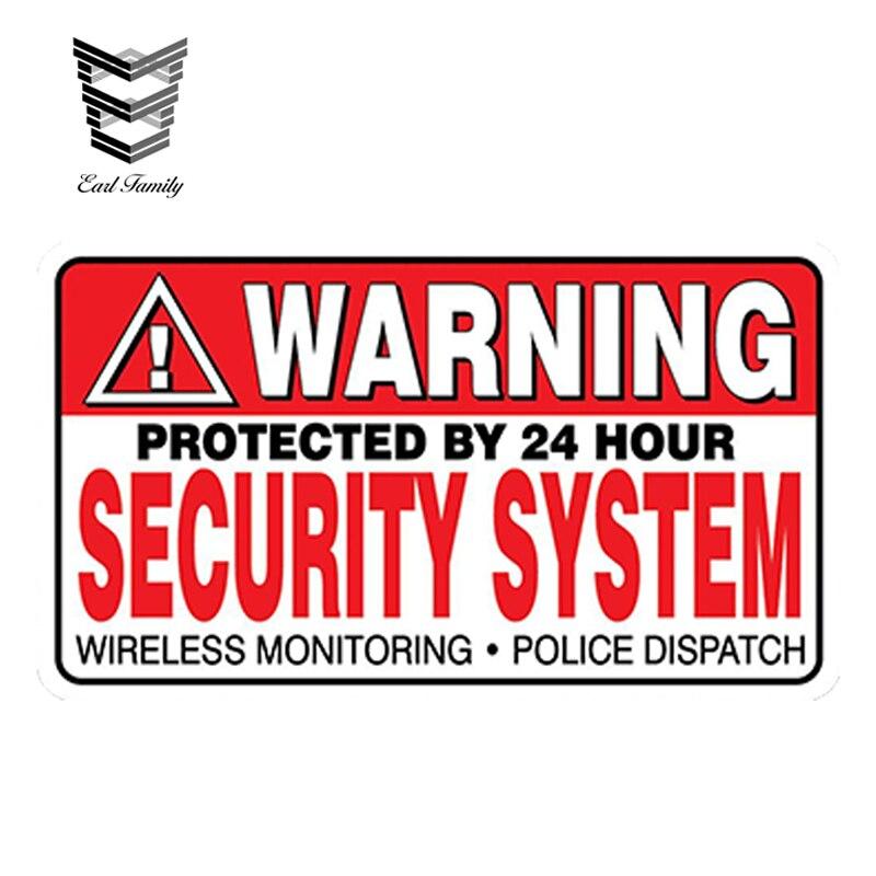 4pcs 8CM*5.3CM Warning Car Sticker GPS Alarm System Decal PVC 12-0911 Anti-Theft