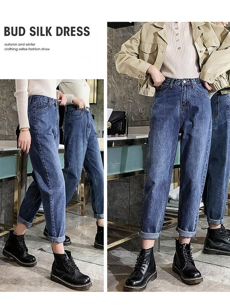 SAILING LU Ankle-Length Old   Jeans   Women Spring 2019 Pants Plus Size 32 Summer Blue Denim Women   Jeans   High Waist Trousers WKN622