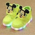 Детская обувь мода свет печатных Микки дети сапоги мальчики девочки спорт тапки дышащая ребенка малыша сандалии 21-30