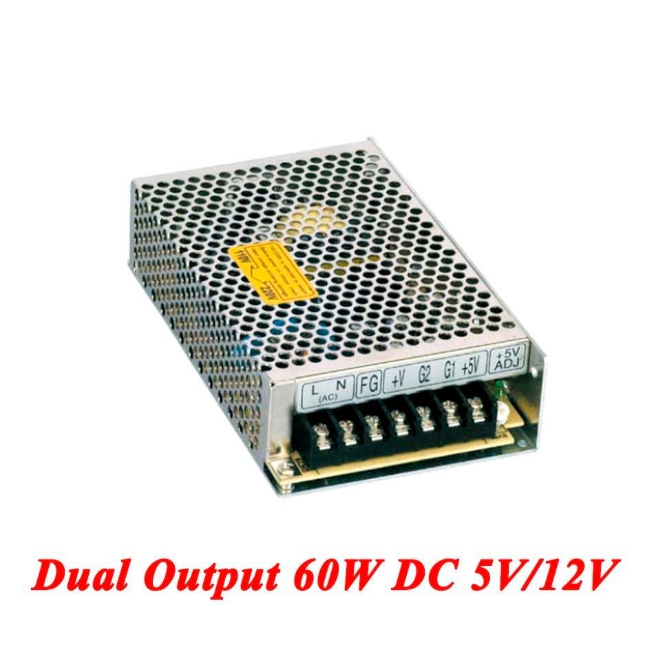D-60A Switching Power Supply 60W 5V/12V,Double Output Watt Power Supply For Led Strip,AC110V/220V Transformer To DC,led Driver switching power supply 350w 15v 23a single output watt power supply for led strip ac110v 220v transformer to dc 15v