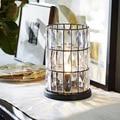 Американская Хрустальная настольная лампа  европейская роскошная прикроватная лампа для спальни  теплая романтическая лампа для гостиной ...