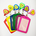 Cheap Bank Credit Card Holders Smile face Heart-shaped Card Bus ID Holders Identity Badge with Retractable Reel wholesale PY022