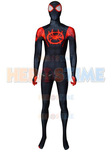 Miles Morales Costume Spider Man Into The Spider Verse Costume 3d