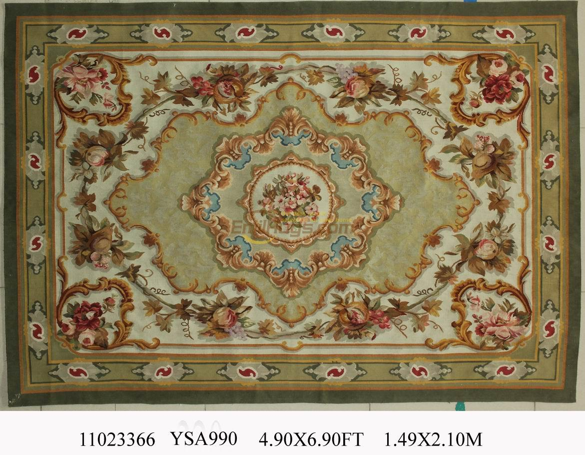 for living room hand woven wool carpet french aubusson rugs in 149cmx210cm 49u0027x 69 - Aubusson Rugs