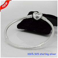 Heart Clasp Bracelets 925 Sterling Silver Jewelry Free Shipping