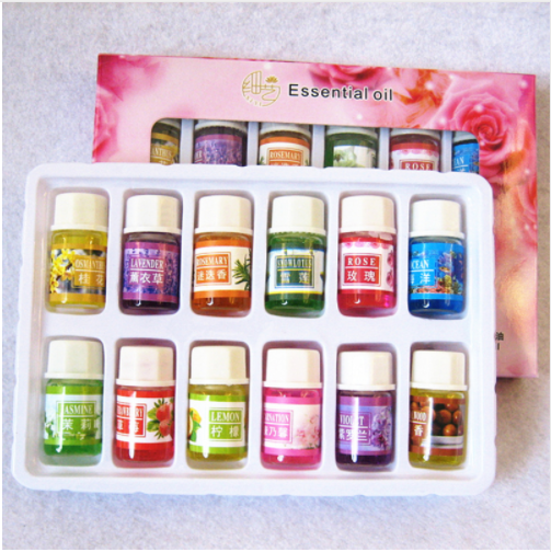 3ml*12pcs Fragrance Essential Oil Watersoluble Essential Oils For Aromatherapy Lavender Oil Diffuser With 12Kinds