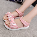 2017 crianças de verão sandálias mão-de malha moda menina sandálias respiráveis confortáveis sandálias infantis sapatos de verão