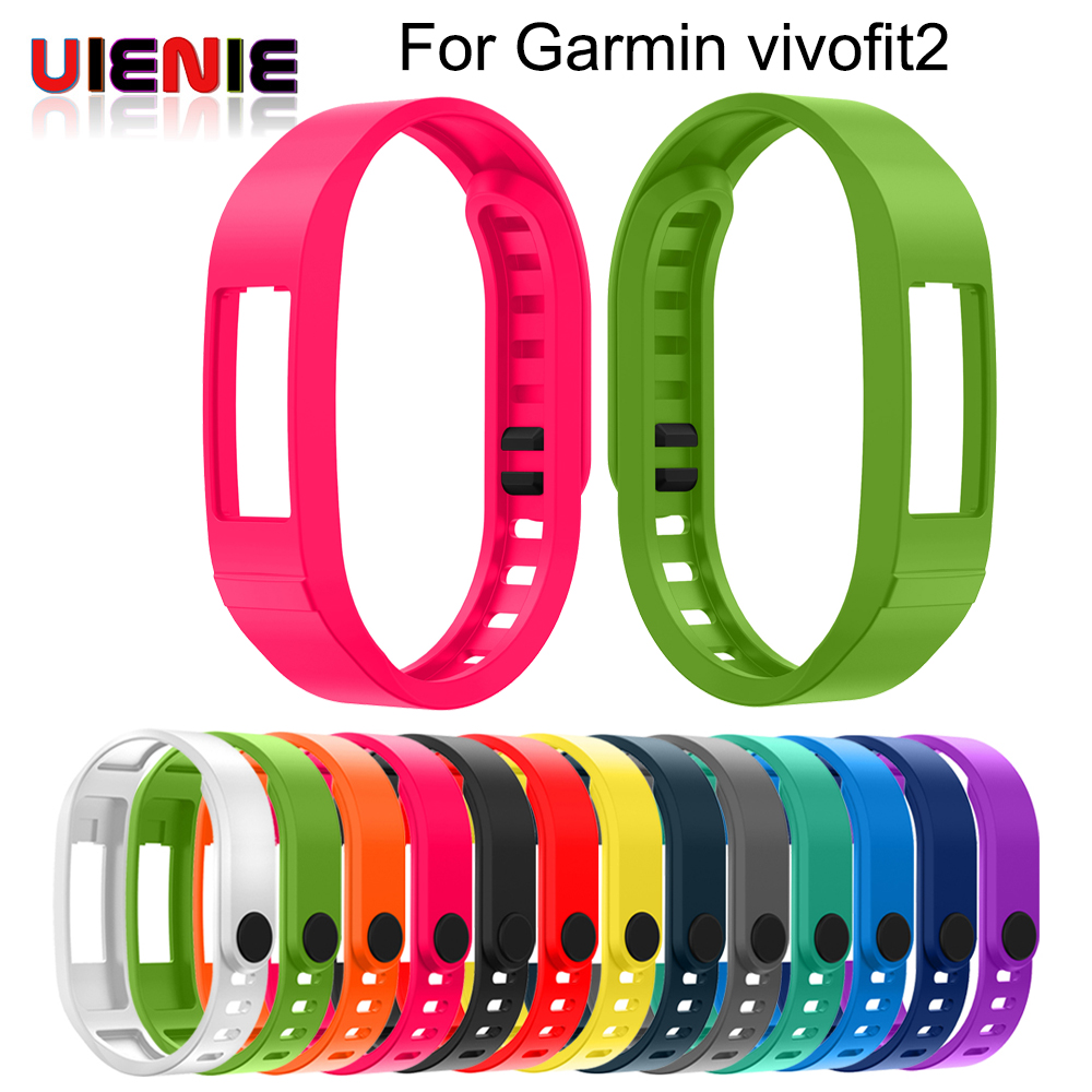 NEW Colorful Replacement Silicone Strap Band For Garmin Vivofit 2 Ultra Soft Wrist Watch Band For Garmin VIVOFIT2 Smart Bracelet