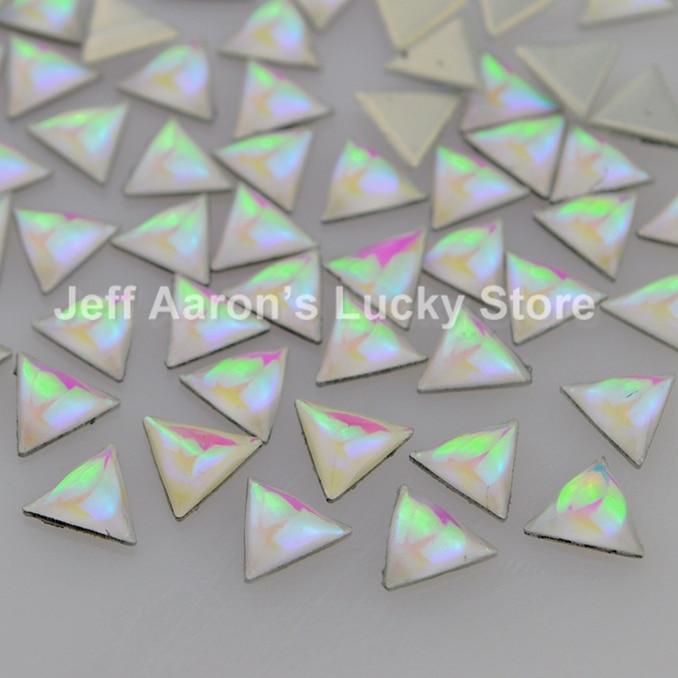 100PCS Triangle nail glitter rhinestones for 3d nail art decorations tools nail supplies 7MM