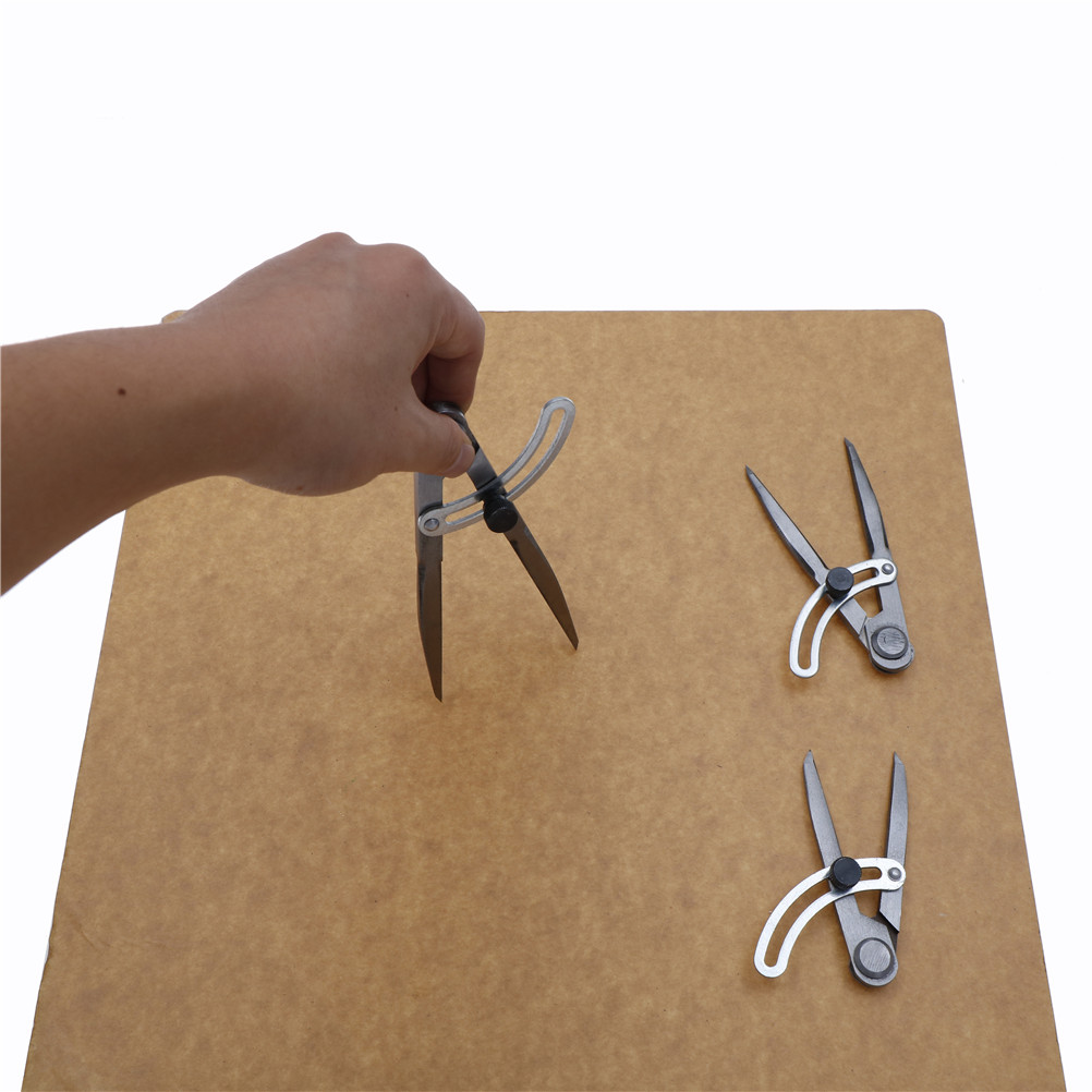 Durable Adjustable Wing Divider Edge Creaser DIY Sewing Leather Metal Craft Tool 100mm