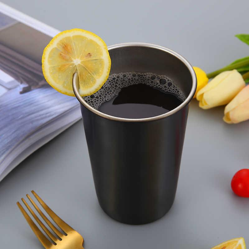 LEGAL Xícara de Água Cor 304 Canecas de Café do Aço Inoxidável do Metal Palha Reutilizável Outdoor Camping Viagens Caneca Bebendo Suco de Chá de Cerveja copo