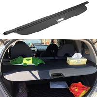 03 09 for Honda Fit Jazz 2003 2004 2005 2006 2007 Black Accessories Retractable Trunk Cargo Cover Luggage Shade Shield