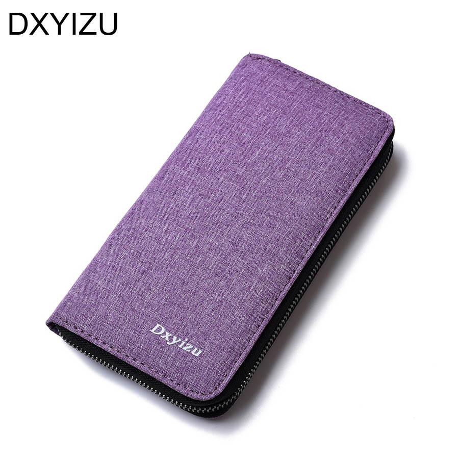 zip wallet men long design business card holder woman black purse ...