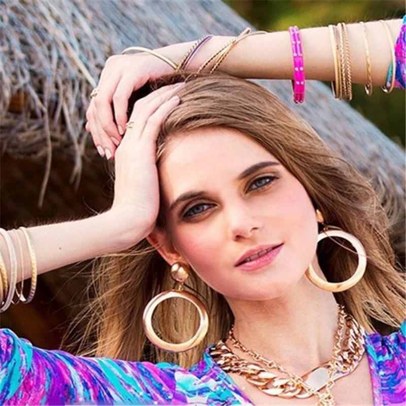 Gold Color Hoop Earrings For Women Hoops Orni Cerchio Boucles D Oreille Huggie