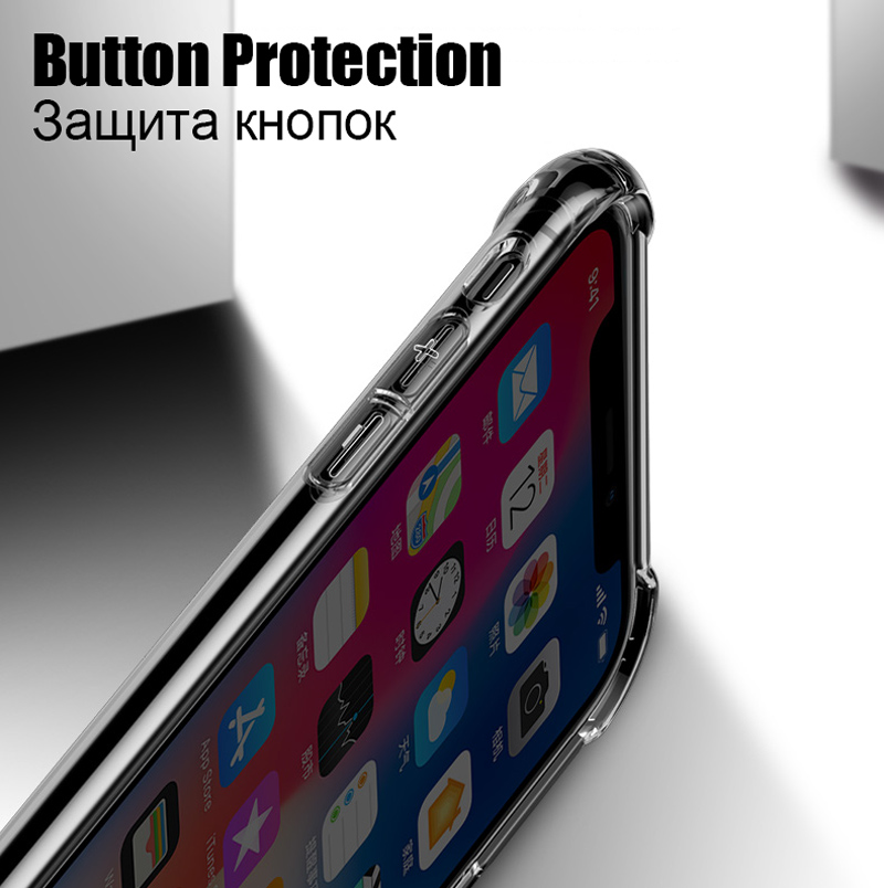 TOMKAS Anti-knock Cases For iPhone X 8 Plus Case Silicone Soft TPU Clear Cover Case For iPhone 6 6S 7 8 Plus X Cases Transparent (7)
