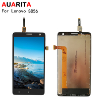 AAA Quality 1pcs LCD For Lenovo S856 S 856 LCD Display Touch Panel Screen Glass Assembly