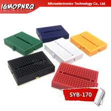 5PCS SYB-170 Solderless Breadboard Prototype Experiment Test Protoboard 170 Tie-Points 6 Colors to choose