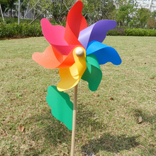 Kids Toys Party Windmill Wind-Spinner Garden Ornament-Decoration Wood Yard 45cm Beautiful
