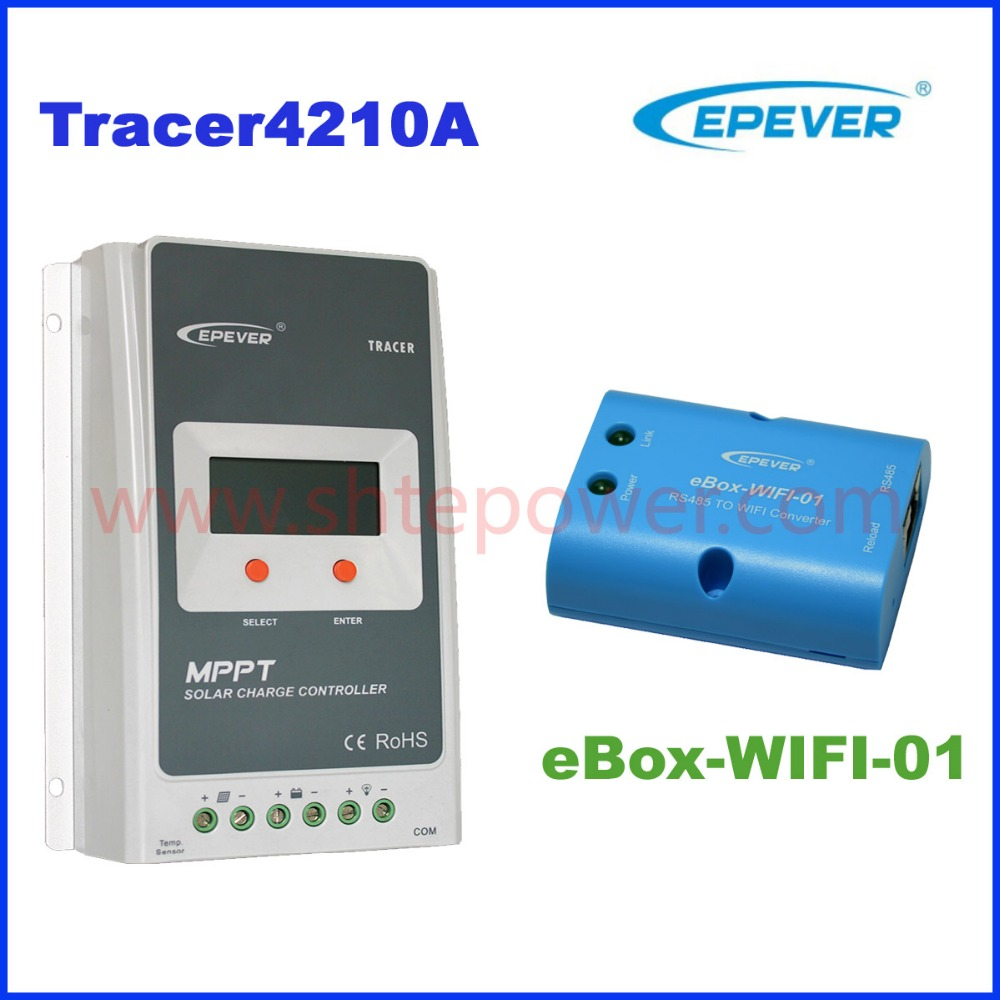 Tracer4210A 40A EPEVER MPPT solar charge controller 12v 24v auto work 100vdc input EPsolar  40amp MPPT solar Regualtor with WIFI qty 2 auto for auxiliary cooling water pump fit vw jetta golf gti vw passat cc octavia 1 8 t 2 0 t 12 v engine 1k0 965 561 j