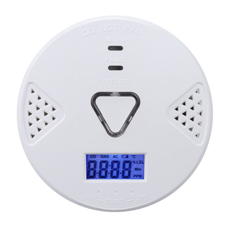 New CO Detector Voice LED Warning CO Detector Carbon Monoxide Sensor Alarm Home Security Tester for Safety Home