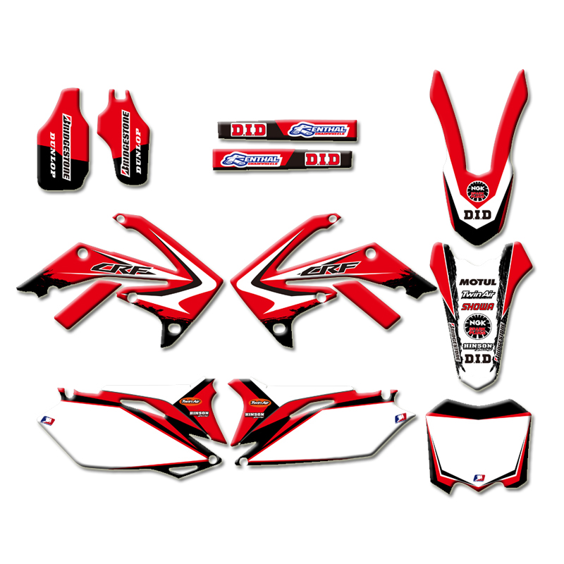 Graphic Background Decal Sticker for Honda <font><b>CRF450R</b></font> CRF450 2009-2012 CRF250R CRF250 <font><b>2010</b></font> 2011 2012 2013 CRF 250 250R 450 450R R image