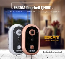 ESCAM Doorbell QF600 Wifi Mini IP Camera HD P2P indoor Surveillance Night Vision Security CCTV Camera with TF SD Card стоимость