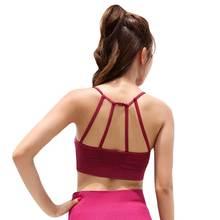 Women Fitness Bra Gymming Sporting Workout Yogaing Girl Sleep Vest Underwear Clothes Runs Push Up Tops Shirts Tank  WX1835