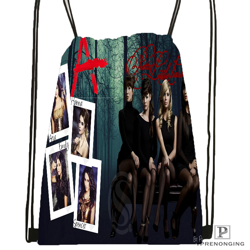 Custom Charmed Pretty Little Liars Drawstring Backpack Bag Cute Daypack Kids Satchel (Black Back) 31x40cm#180531-04-68