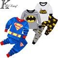 2-7 años bebé ropa del niño de los niños batman superman ropa kids boy set roupas infantis menino vetement ensemble garcon