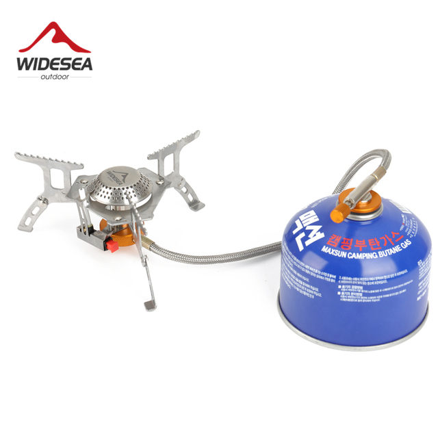 Widesea Outdoor Gas Stove Camping Gas burner Folding Electronic Stove hiking Portable Foldable Split Stoves 3000W 1
