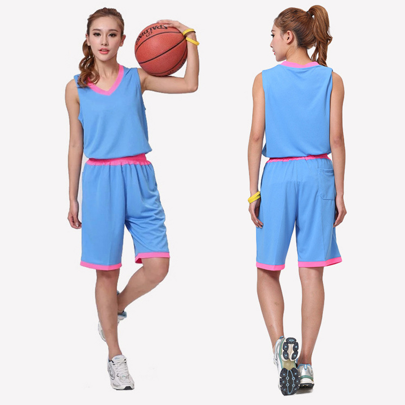 59de42b2b9ccfa Brand New Men Women Basketball Jerseys Sets Tops and Shorts Female Soccer  Clothes Suit Sports Breathable ...