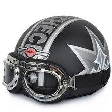 2016 New Vintage Open Face Half Motorcycle Motorbike Riding Helmet & Motorcycle Helmet & Goggles & Visor A1-A20