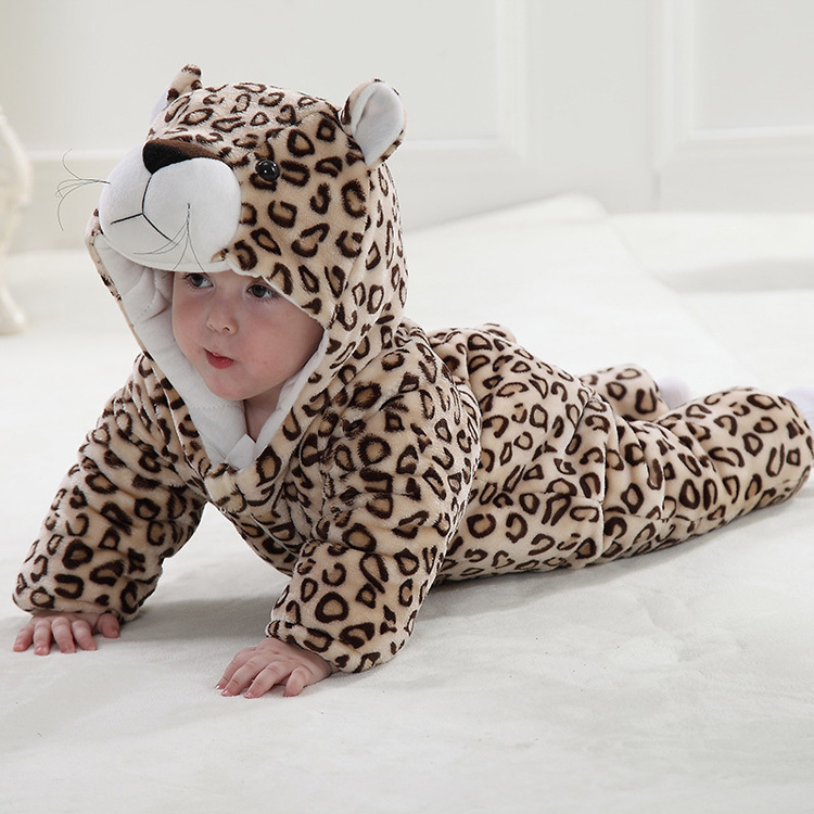Cute baby leopard shape photography new clothes rompers