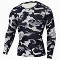 Nova Camiseta Musculação Calças de Camuflagem Militar Camo Camisas de Manga Comprida T Crossfit Fitness Men Quick Dry Camisa De Compressão