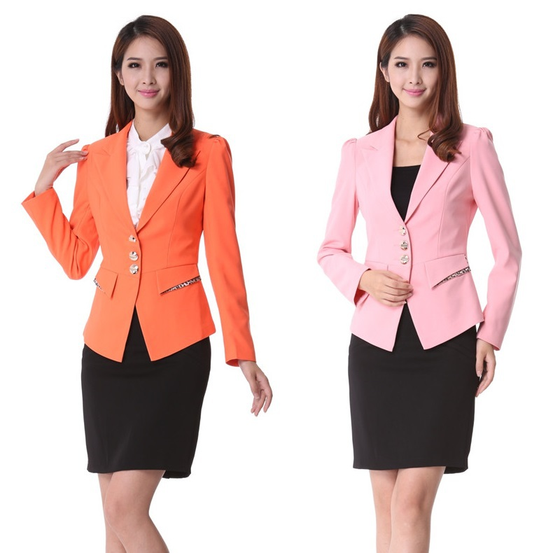 New 2015 spring formal ladies office uniform design for for Office uniform design 2015