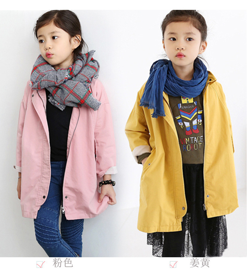 ФОТО New Baby Girls Jacket Coat Spring Autumn Designer Kids Trench Coat Infant Girls Windbreaker Children Clothing H355