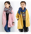 New Baby Girls Jacket Coat Spring Autumn Designer Kids Trench Coat Infant Girls Windbreaker Children Clothing H355