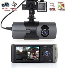 Hot!! 2.7″ Dual lens DVR Full HD 1080P GPS Dual Len Car DVR Vehicle Camera Video Recorder Dash Cam Dashboard Portable Recorder
