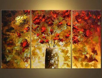 3 шт. ручная роспись настенные картины для гостиной My Beautifull Rose II Современная Холст Искусство Цветочная картина маслом настенное искусство