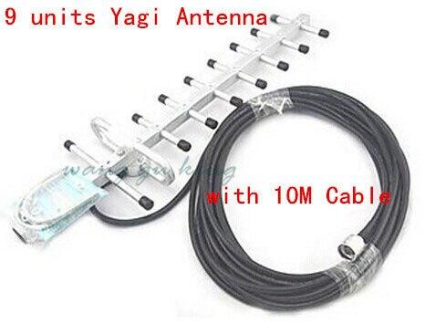 Ensemble complet LCD 3G UMTS WCDMA 2100 Mhz répéteur téléphone Mobile 3G amplificateur de Signal WCDMA amplificateur de répéteur de Signal + antennes 13db Yagi - 5