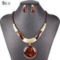 MS20129 conjuntos de joyería de marca de moda colgante redondo 5 colores cuerda de cuero de imitación de alta calidad precio al por mayor regalos de fiesta