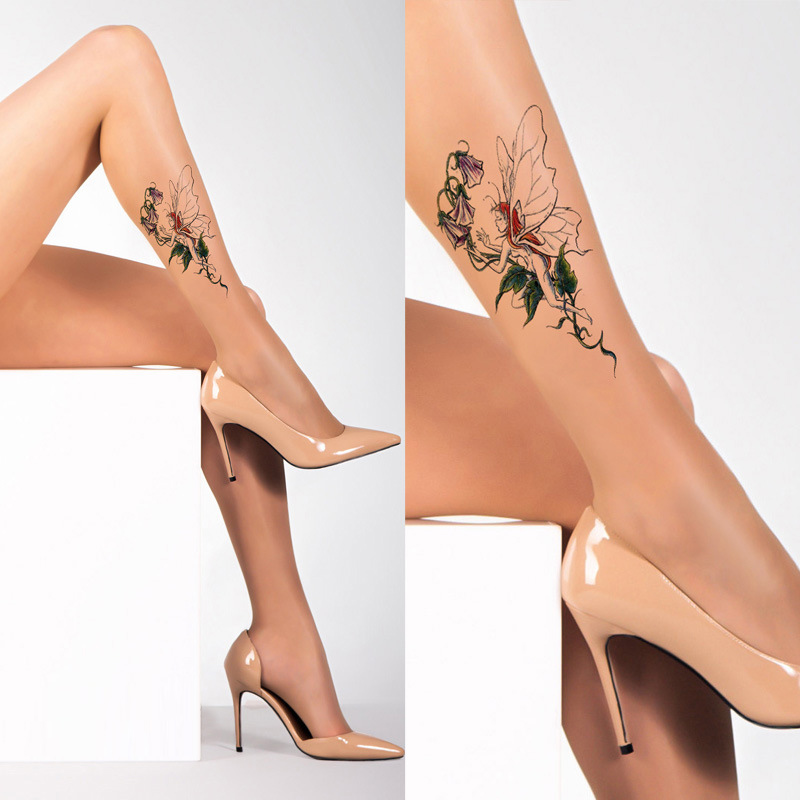New Style Of Angel Tattoo Silk Stockings And Pantyhose