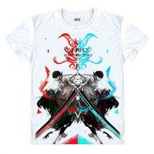 One Piece T-Shirt Roronoa Zoro T Shirt Mihawk Prentice Strawhat Legion Swordsman Anime Summer Tshirt Unisex Cool short tee