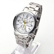 Новинка, известный бренд, мужские серебряные кварцевые часы, женские часы из нержавеющей стали, Relogio, повседневные часы унисекс, наручные часы, горячая распродажа
