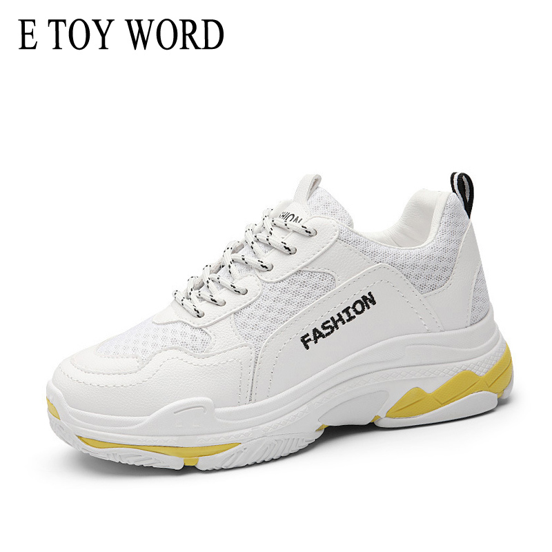 E TOY WORD Hot Selling spring autumn women's shoes Korean ulzzang Harajuku lace up wild Breathable sneaker casual shoes e toy word women boots autumn winter