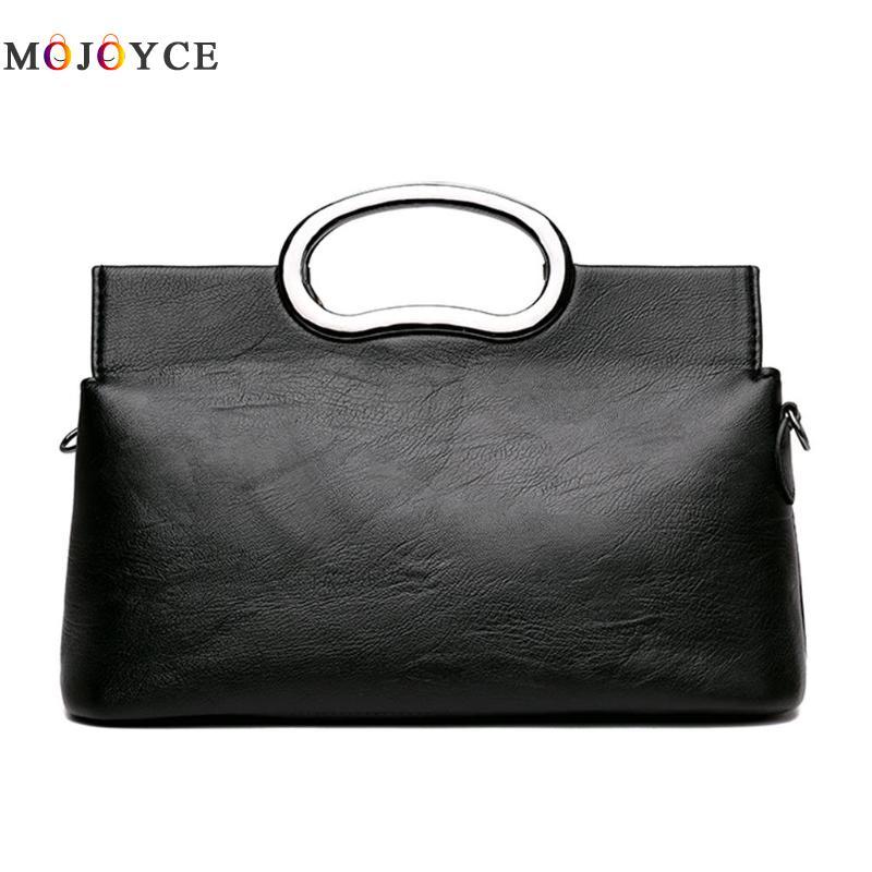 Luxury Brand PU Leather Women Messenger Bag Solid Color Female Shoulder Bag Office Lady Clutch Handbag Bolsa Feminina 5