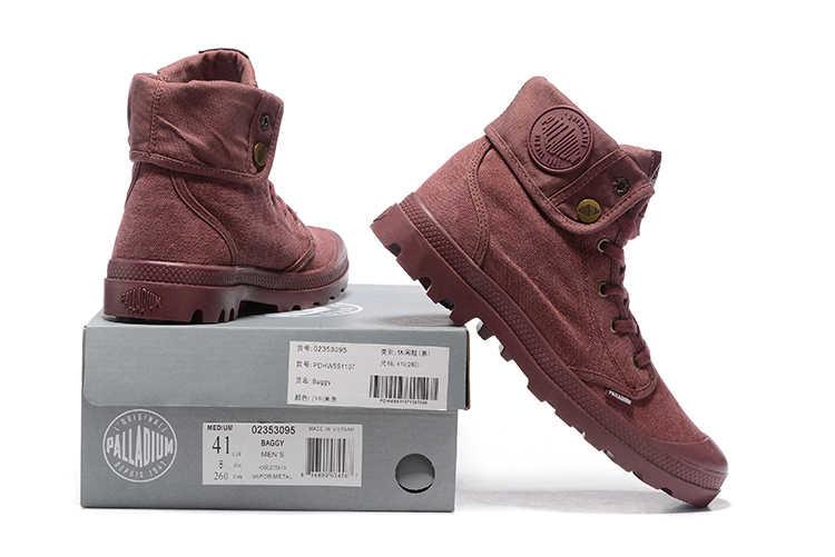 PALLADIUM Pallabrouse Tím Sneakers Lần Lượt giúp Phụ Nữ Cổ Chân Quân Khởi Giày Vải Giản Dị Phụ Nữ Thường Giày Eur Kích Thước 36-39